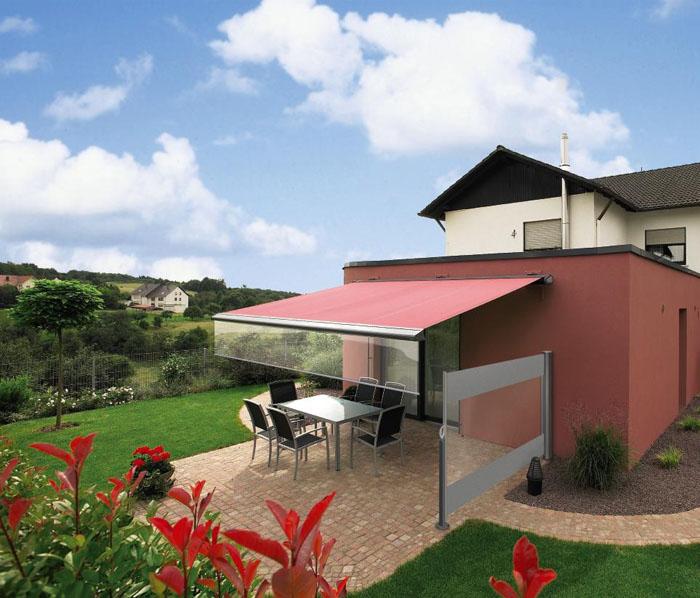 Windschutz Für Terrasse Gla Metall : Sichtschutz Windschutz Sonnenschutz Unm u00fcssig